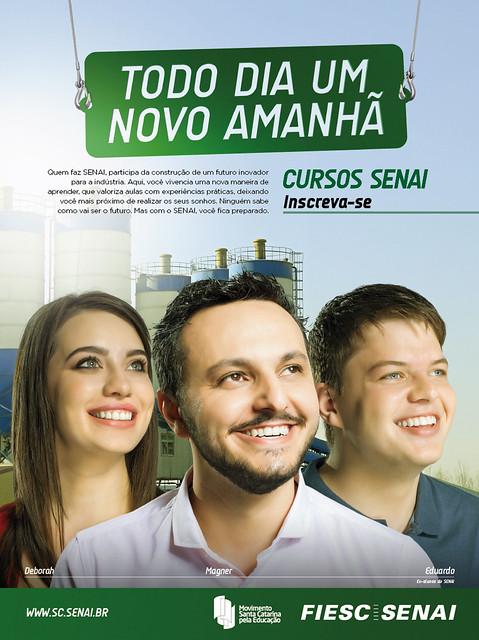 Campanha de Cursos do SENAI tem criação da Free