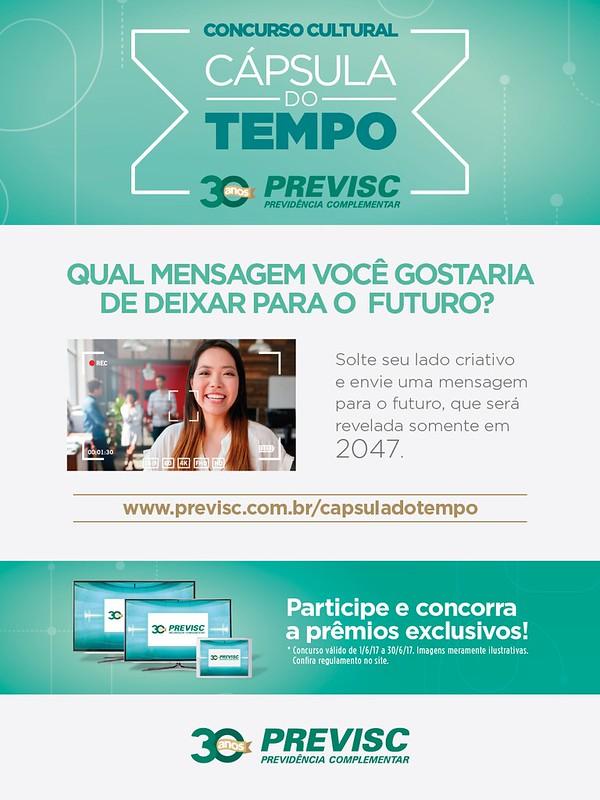 Free cria ação para PREVISC que levará mensagens para 2047