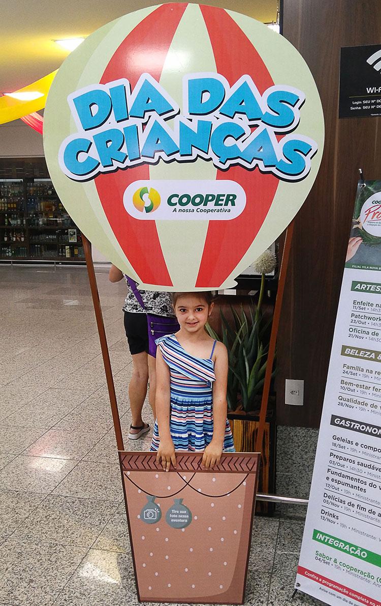 Dia das crianças na Cooper