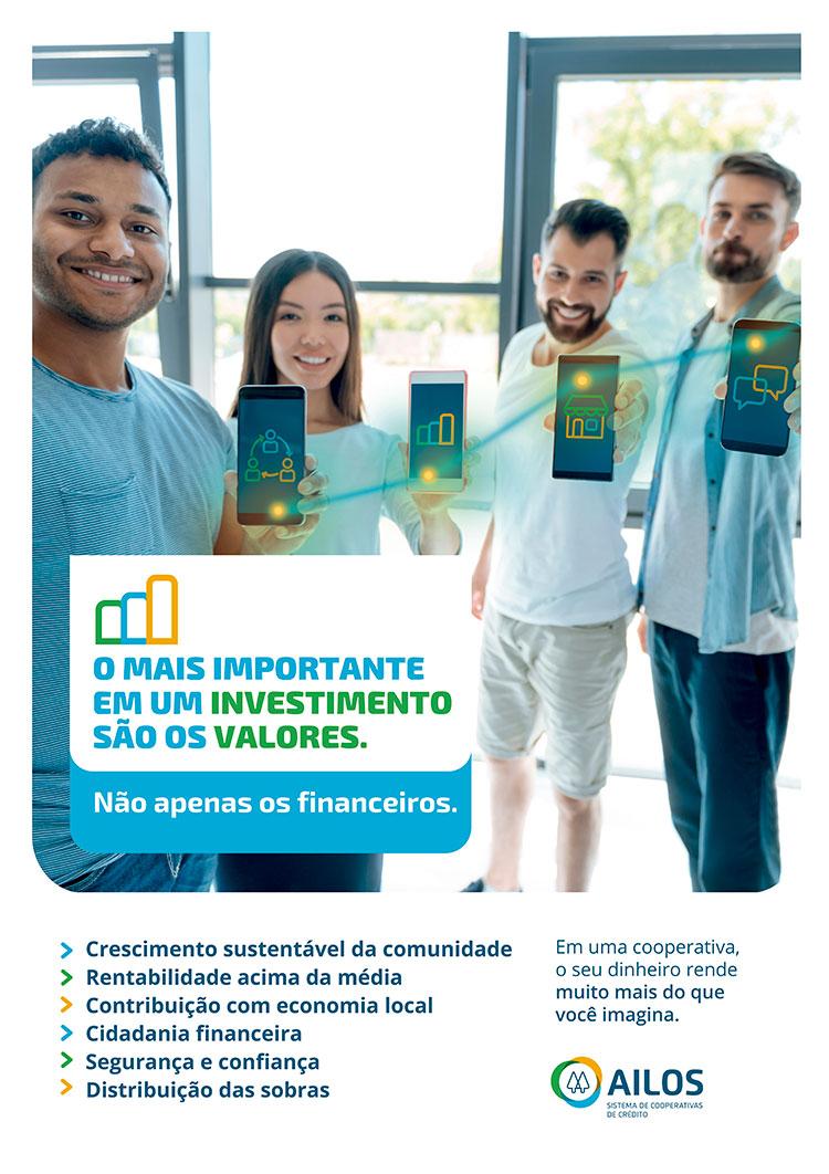 Campanha da Ailos apresenta vantagens de investir no cooperativismo
